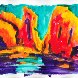Canyonlands - acrylic on paper (c) Jennifer Mosher