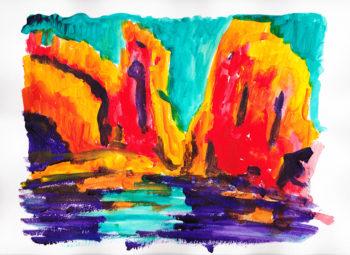 Canyonlands - acrylic on paper (c) Jennifer Mosher