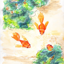 Goldfish (after Arthur Coleman) - watercolour (c) Jennifer Mosher
