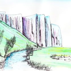 Merced River, Yosemite NP - watercolour (c) Jennifer Mosher