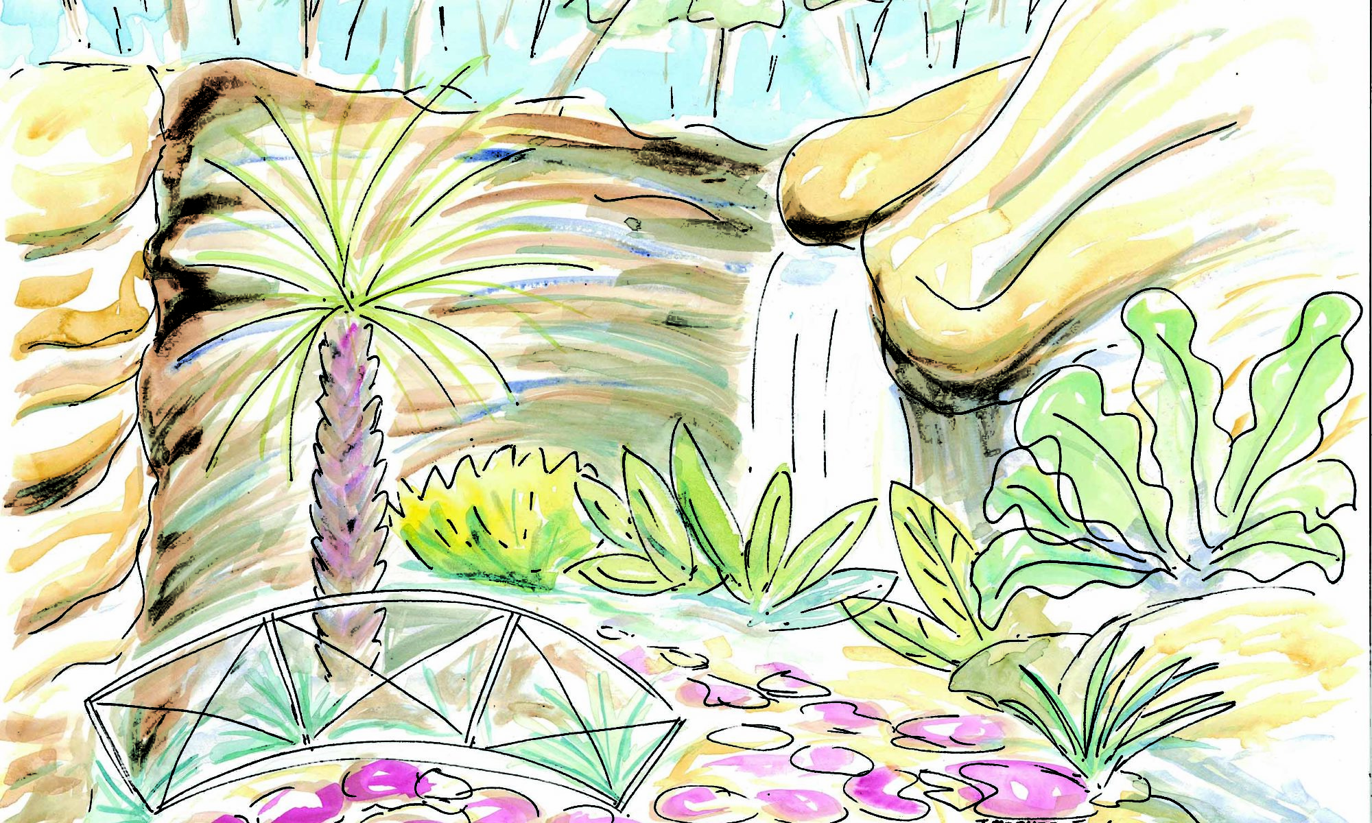 The Grotto, Everglades - watercolour (c) Jennifer Mosher