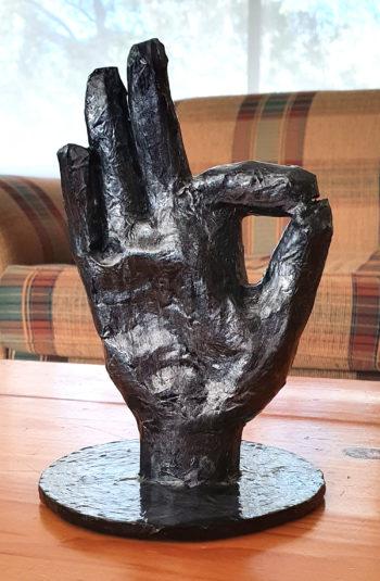 A-Okay papier mache hand 1