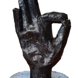 A-Okay papier mache hand 1 - no background