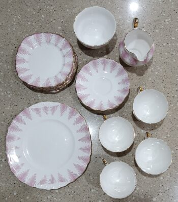 Royal Vale 7654 china tea service from above