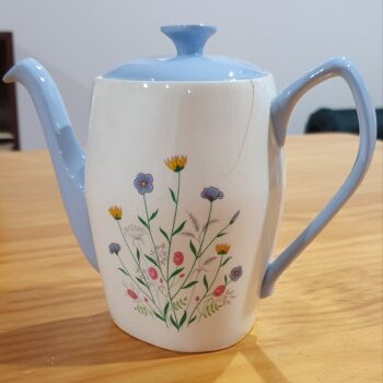 Copeland Spode Wayside tea pot and lid side view
