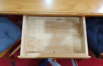 Dining table - inbuilt drawer - inside
