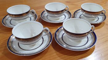 Myotts Royal Crown cups and saucers 1