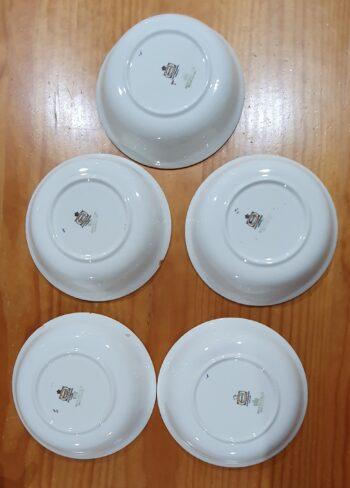 Myotts Royal Crown dessert bowls - bases