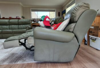Recliner 1 - side view showing footrest