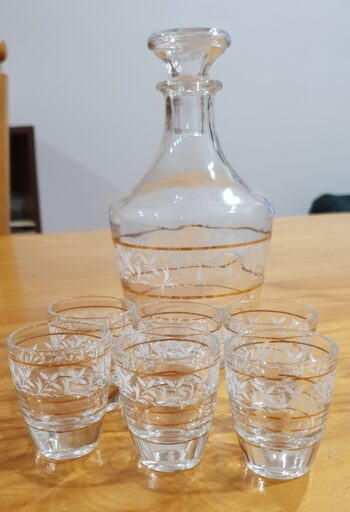 Sherry decanter with six glasses - 2